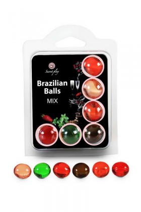 6 FRUITS BRAZILIAN BALLS SET