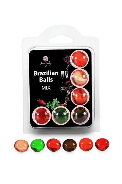 6 BRAZILIAN BALLS FRUITS SET