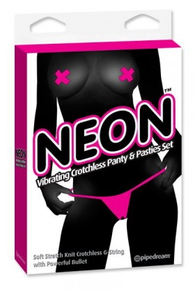 NEON VIBRATING PANTY PINK Pipedream USA