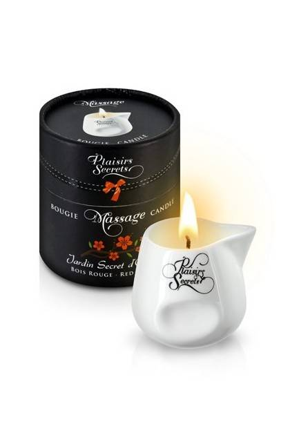 MASSAGE CANDLE RED WOOD 80M Plaisirs secrets