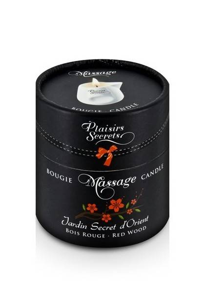 BOUGIE DE MASSAGE BOIS ROUGE 80M Plaisirs secrets - 2