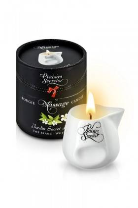 BOUGIE DE MASSAGE THE BLANC 80ML Plaisirs secrets - 1