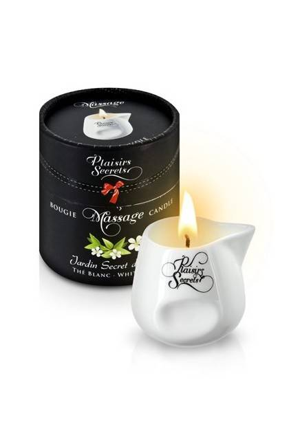 MASSAGE CANDLE THE BLANC 80ML Plaisirs secrets