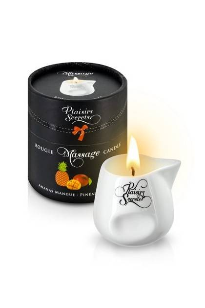 BOUGIE MASSAGE ANANAS/MANGUE 80M Plaisirs secrets - 1