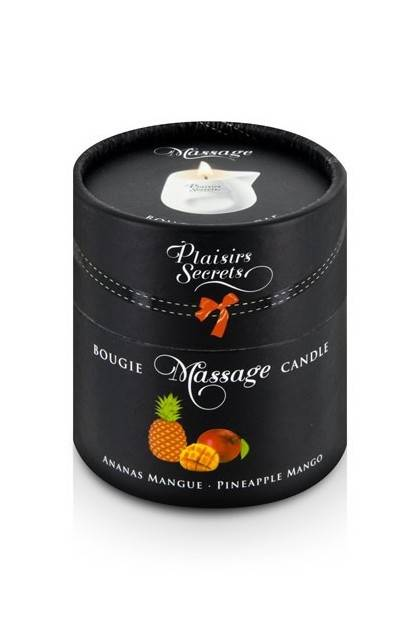 BOUGIE MASSAGE ANANAS/MANGUE 80M Plaisirs secrets - 2