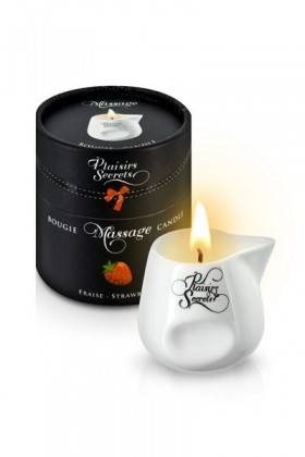 BOUGIE MASSAGE FRAISE 80ML Plaisirs secrets