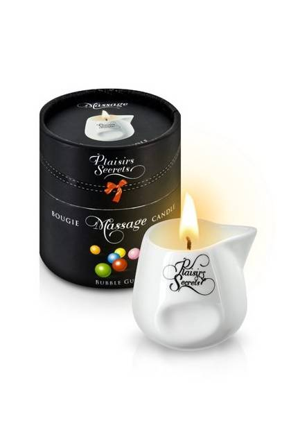 CANDLE MASSAGE BUBBLE GUM 80ML Plaisirs secrets