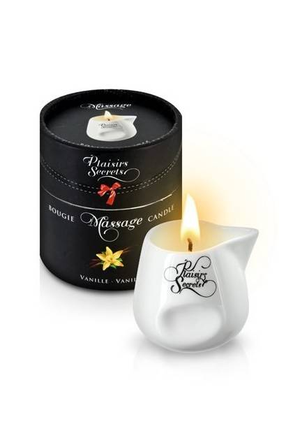 CANDLE MASSAGE VANILLA 80ML Plaisirs secrets