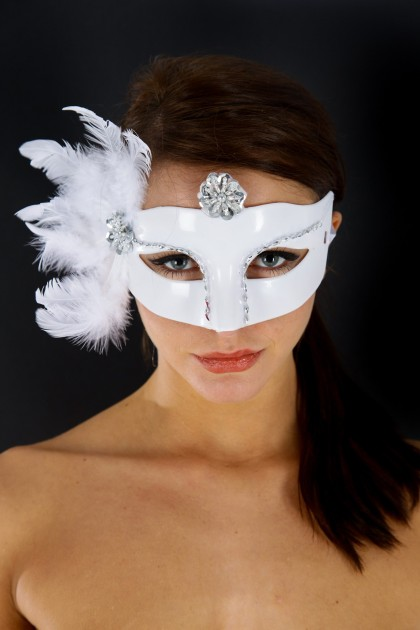 MASQUE CATS BLANC T.U Maskarade - 1