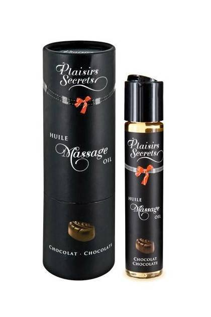 HUILE MASSAGE CHOCOLAT 59ML Plaisirs secrets - 1