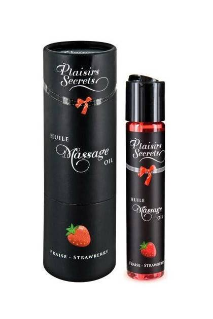 MASSAGE OIL STRAWBERRY 59ML Plaisirs secrets