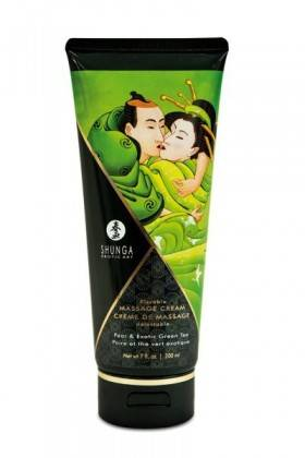 CREAM MASSAGE 200ML PEAR GREEN tea Shunga