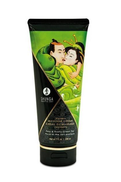 CREAM MASSAGE 200ML PEAR GREEN tea Shunga