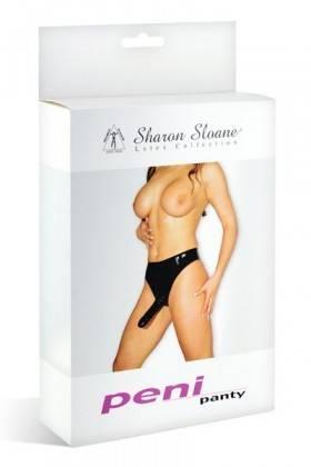 GODE SLIP LATEX L NOIR Sharon Sloane - 1