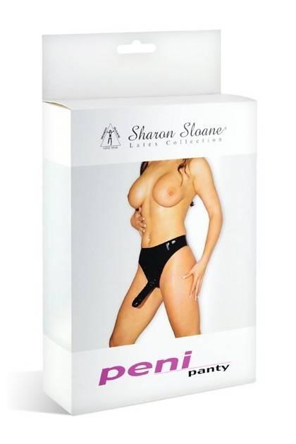 DILDO SLIP in LATEX L BLACK Sharon Sloane
