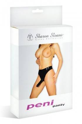 GODE SLIP LATEX S NOIR Sharon Sloane - 1