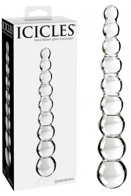 Double glass dildo Icicles No. 02 Pipedream USA