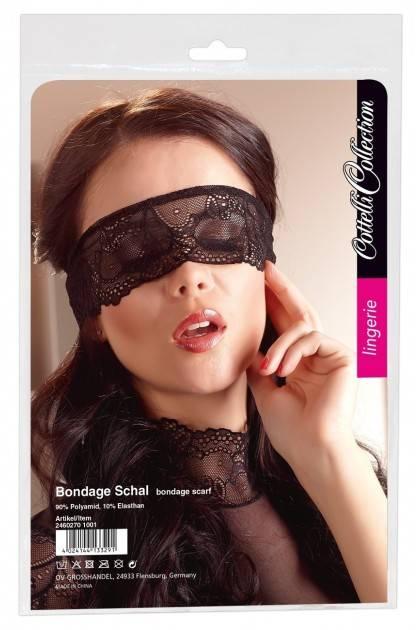 Headband black lace - 1 meter Cottelli