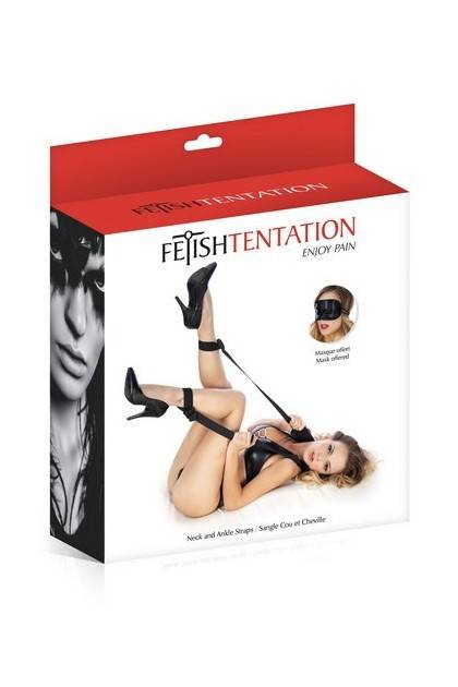 Straps neck and ankles Fetish Temptation Fetish Temptation