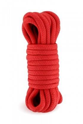 Rope bondage shibari with 10 meters of red Sweet Caress