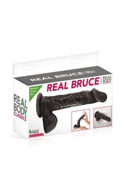 DILDO REALISTIC REAL BODY BRUCE 8P BLACK Realbody