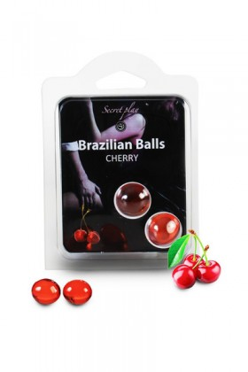 2 BRAZILIAN BALLS CHERRY (CERISE) Brazilian