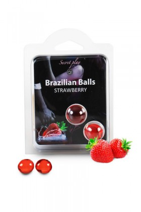 2 BRAZILIAN BALLS STRAWBERRY (FRAISE) Brazilian