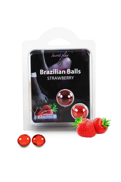 2 BRAZILIAN BALLS STRAWBERRY (STRAWBERRY) Brazilian