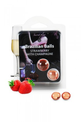 2 BRAZILIAN BALLS with CHAMPAGNE STRAWBERRY Brazilian