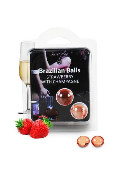 2 BRAZILIAN BALLS CHAMPAGNE FRAISE Brazilian