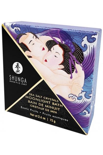 Bain de Minuit Cristaux de Mer Fruits Exotiques - 75 gr Shunga