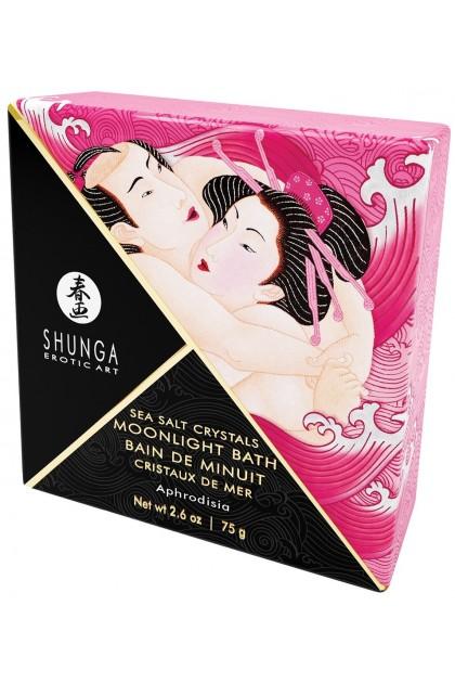 Bath Midnight Crystals of Sea Aphrodisia - 75 gr Shunga