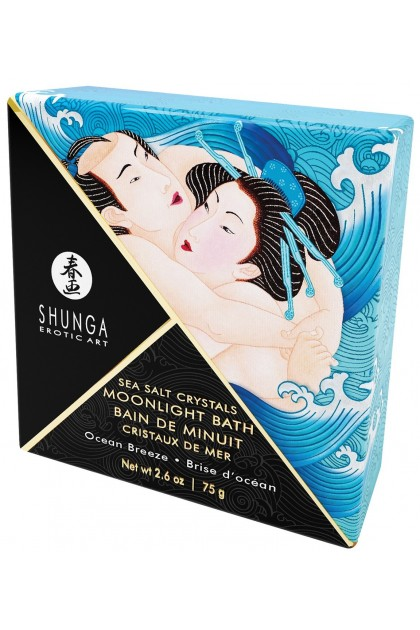 Bath Midnight Crystals of Sea Breeze from the Ocean - 75 gr Shunga
