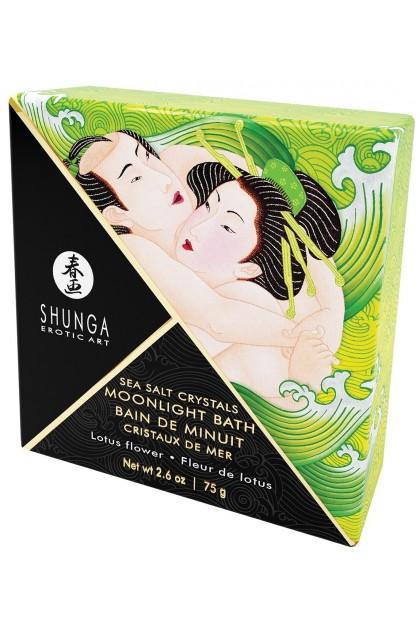 Bain de Minuit Cristaux de Mer Fleur de Lotus - 75 gr Shunga