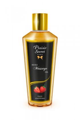 Huile massage sèche fraise 250ml Plaisirs secrets