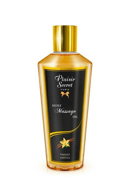 Huile massage sèche vanille 250ml Plaisirs secrets
