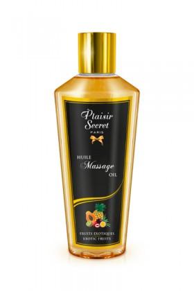 Huile massage sèche fruits exotiques 250ml Plaisirs secrets