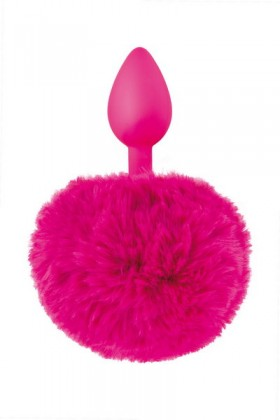 Plug fushia queue de lapin Sweet Caress