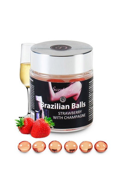 6 BRAZILIAN BALLS STRAW-CHAMPAGNE Brazilian