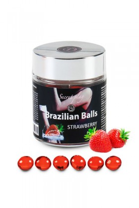 6 BRAZILIAN BALLS STRAWBERRY Brazilian