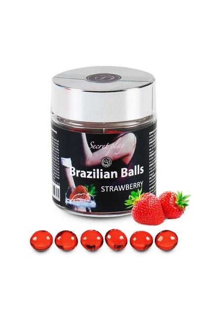 6 BRAZILIAN BALLS STRAWBERRY Brazilian