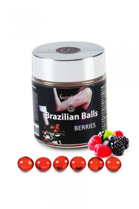6 BRAZILIAN BALLS FLAVOR BLACKBERRIES Brazilian