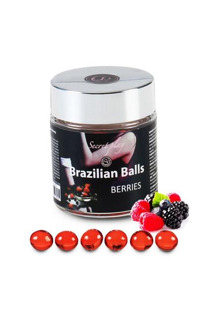 6 BRAZILIAN BALLS FLAVOR BLACKBERRIES Brazilian