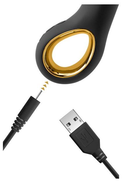 Vibromasseur rabbit My Princess Black Empire USB