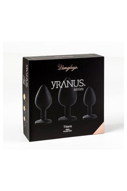 Coffret 3 plugs anal Titans Yranus
