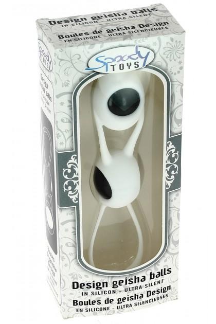 Boules de Geisha Spoody en silicone blanc et ABS blanc