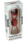 Boules de Geisha Spoody en silicone rouge et ABS noir
