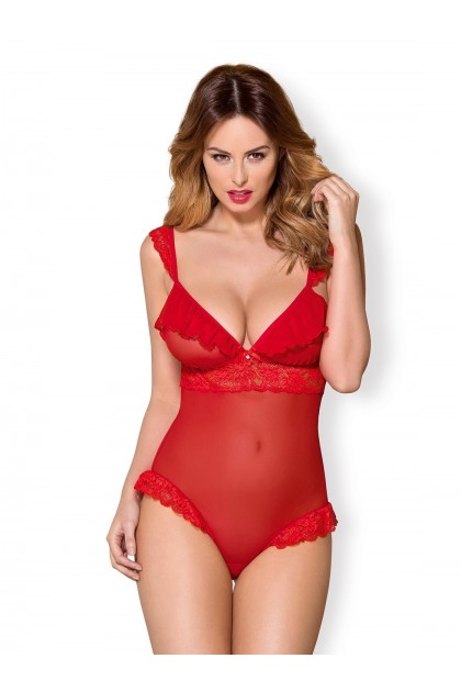 863-TED-3 Bodysuit - Red