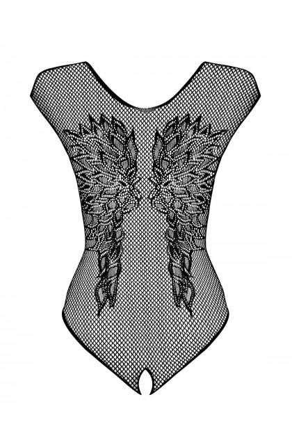 B112 Open Bodysuit - Black