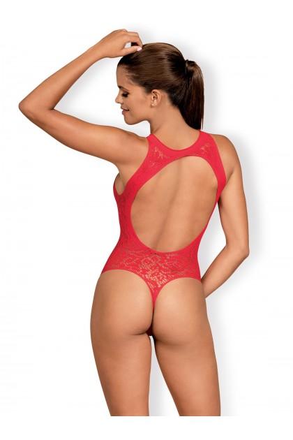 B120 Open Bodysuit - Red